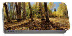 Portable Battery Charger featuring the photograph Crested Butte Colorado Fall Colors Panorama - 3 by OLena Art Brand