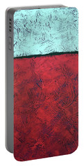 Crimson Earth Meets Pearl Sky Portable Battery Charger