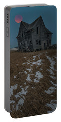 Portable Battery Charger featuring the photograph Crooked Moon by Aaron J Groen