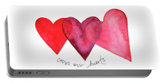 Cross Our Hearts Portable Battery Charger