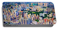 Crowded Hong Kong Abstract Portable Battery Charger