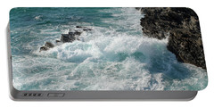 Crushing Waves In Porto Covo Portable Battery Charger