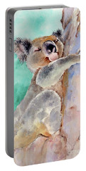 Cuddly Koala Watercolor Painting Portable Battery Charger