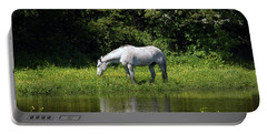 Cumbria. Ulverston. Horse By The Canal Portable Battery Charger