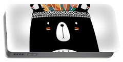Cute Tribal Bear - Boho Chic Ethnic Nursery Art Poster Print Portable Battery Charger