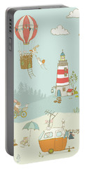 Portable Battery Charger featuring the photograph Cute Whimsical Animals For Kids by Matthias Hauser