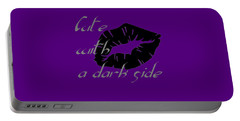 Cute With A Dark Side Gothic Valentine Portable Battery Charger