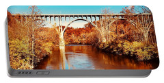 Cuyahoga River At Autumn Portable Battery Charger