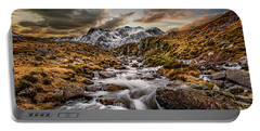 Cwm Idwal Snowdonia Sunset Portable Battery Charger