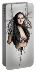 Cyborg Woman Portable Battery Charger