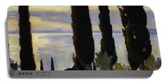 Cypress Trees At San Vigilio, 1913  Portable Battery Charger