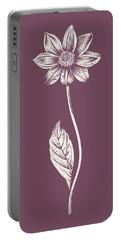 Dahlia Purple Flower Portable Battery Charger