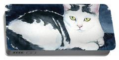 Daisy Cat Painting Portable Battery Charger