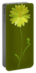 Portable Battery Charger featuring the digital art Daisy, Daisy by Gina Harrison