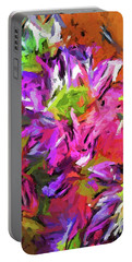 Daisy Rhapsody In Purple And Pink Portable Battery Charger