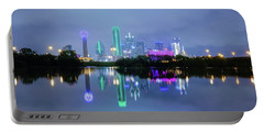 Dallas Cityscape Reflection Portable Battery Charger