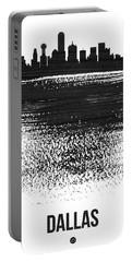 Dallas Skyline Brush Stroke Black Portable Battery Charger