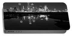 Dallas Texas Cityscape Reflection Portable Battery Charger