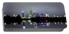 Dallas Texas Cityscape River Reflection Portable Battery Charger