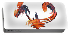 Dance Of The Birds Orange Portable Battery Charger