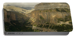 Portable Battery Charger featuring the photograph Dappled Light In The Ordesa Valley by Stephen Taylor