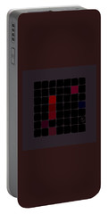 Portable Battery Charger featuring the digital art Dark Red by Attila Meszlenyi