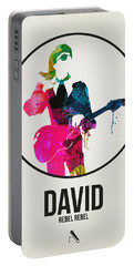David Bowie Watercolor Portable Battery Charger