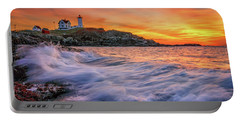 Dawn At Cape Neddick Lighthouse Portable Battery Charger