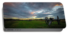 Portable Battery Charger featuring the photograph Dawn At Gettysburg by Ronald Santini