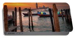 Portable Battery Charger featuring the photograph Dawn Deliveries...venice.    by Tim Bryan