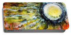 Portable Battery Charger featuring the painting Dawn Of A New Sun by 'REA' Gallery