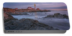 December Dawn At Portland Head Light Portable Battery Charger