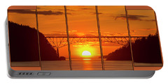 Deception Pass Sunset Panels Portable Battery Charger