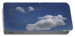 Deep Blue Sky And Fluffy Cumulous Cloud Portable Battery Charger