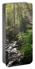 Deep In The Forrest - Sun Rays Portable Battery Charger