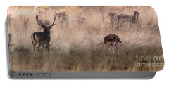 Deer In The Grasses Portable Battery Charger