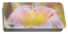 Delicate Pink Daylily Portable Battery Charger
