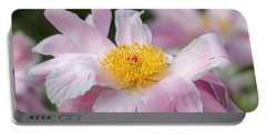 Delicate Pink Peony Portable Battery Charger