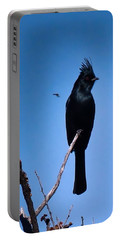 Desert Phainopepla And Dragonfly Portable Battery Charger