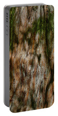 Detail Of Bark On Huge  Tree Portable Battery Charger