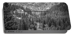 Portable Battery Charger featuring the photograph Devils Gate In Black And White by Jon Burch Photography