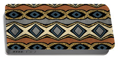 Diamond And Eye Motif With Leopard Accent Portable Battery Charger