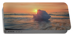 Diamond Beach Sunrise Iceland Portable Battery Charger