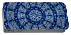 Portable Battery Charger featuring the photograph Blue Jay Mandala by Debbie Stahre