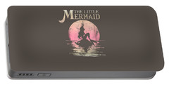 Disney The Little Mermaid Ariel Rock Moon Silhouette T-shirt Portable Battery Charger