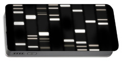 Dna Art White On Black Portable Battery Charger