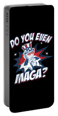 Portable Battery Charger featuring the digital art Do You Even Maga by Flippin Sweet Gear