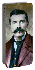 Doc Holliday Painterly Portable Battery Charger