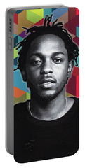 Portable Battery Charger featuring the painting Don't Kill My Vibe Kendrick by Carla B