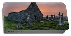 Doolin Ireland Graveyard At Sunrise Portable Battery Charger